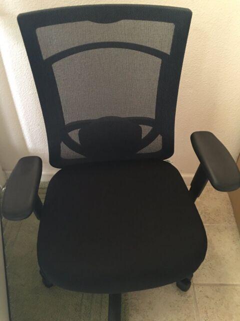 Tempur Pedic Tp7000 High Back Office Chair Blue Black Memory Foam Ergonomic