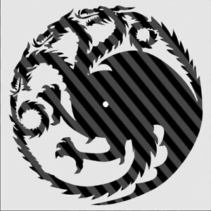 Details about DXF CDR File For CNC Plasma Laser Cut - Game of Thrones  Targaryen Clock