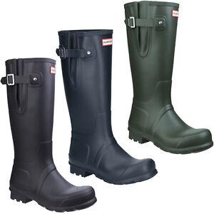 Hunter Original Side Adjustable Wellington Boots Iconic Waterproof Mens Wellies