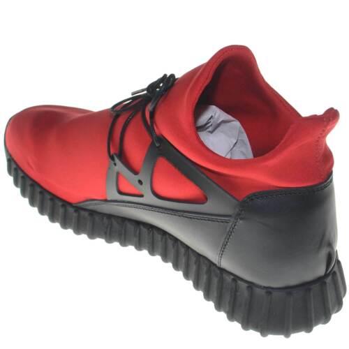 Stringate Tomaia Tessuto Vera Sneakers Rosso Uomo Bassa E Pelle Lycra In Scarpe xwHpRqp