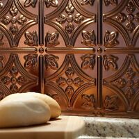 Kitchen Backsplash Decorative Vinyl Panel Wall Tiles Metal Oil Rubbed Bronze