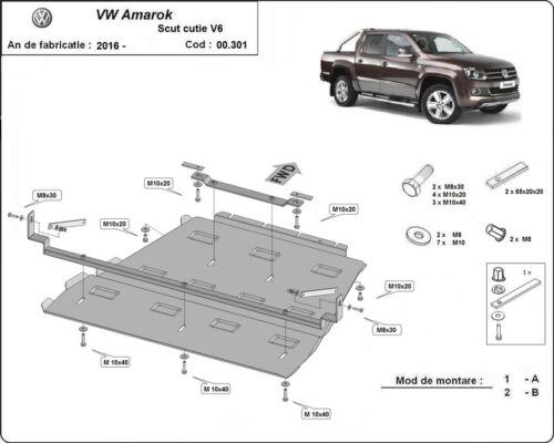Differential aus VW Amarok V6 automat-2016-2019 Unterfahrschutz Getriebe
