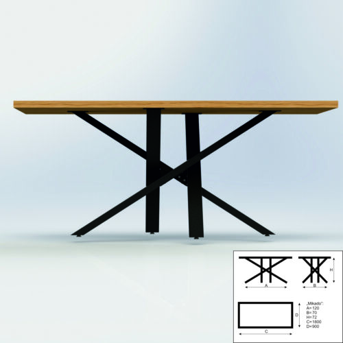 Tischgestell Stern Tischkufen Mikado Tischbein Industrie Tisch Loft Möbel