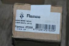 "FLAMCO 27230 MANOMETER 1/2"" AX 80MM 3 BAR VENTIL 1/4"" Z AX NEU"