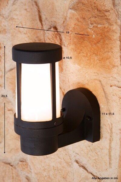 Wandleuchte Design Außenleuchte Alu Außenlampe Wandlampe schwarz Lampe Leuchte