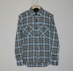 Vintage-Stussy-Deluxe-Wool-Button-Down-Shirt-sz-M-USED