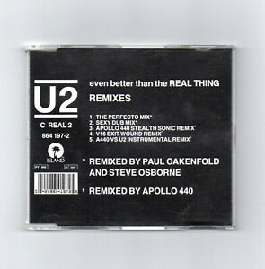 U2 - EVEN BETTER THAN THE REAL THING REMIXES CD SINGLE