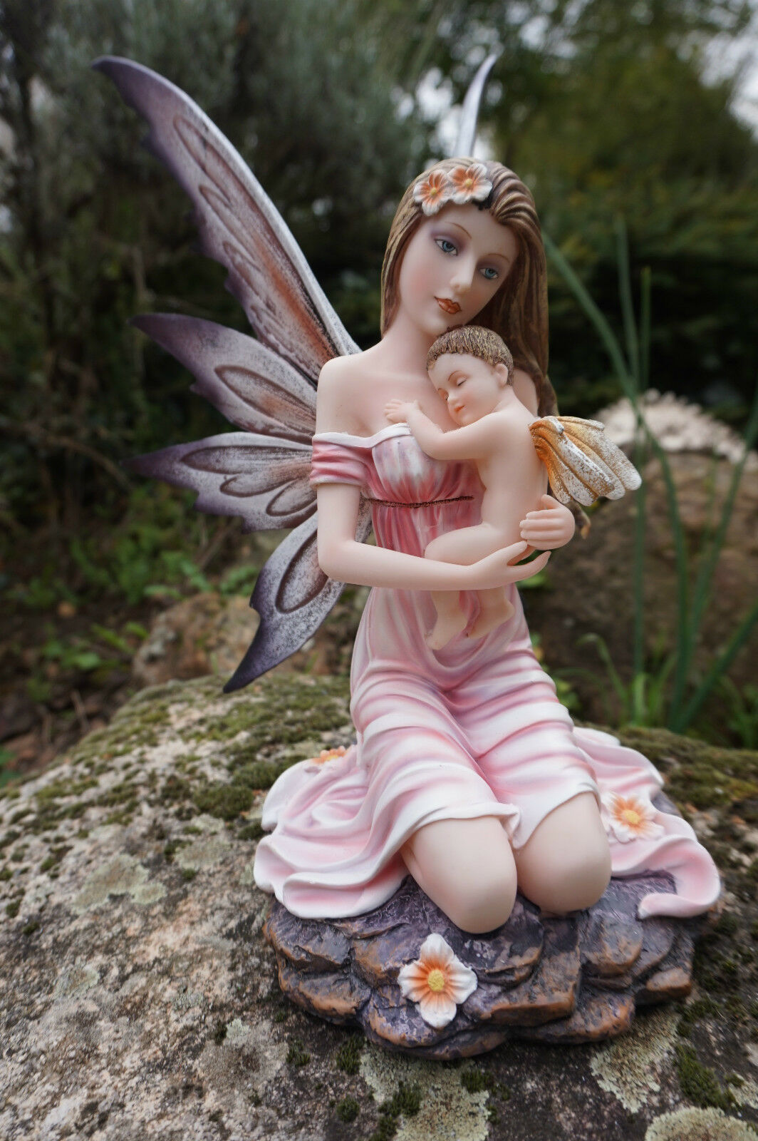 15511  FIGURINE  FEE  ELFE AVEC BEBE  HEROIC  FANTASY FAIRY DREAMS