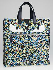e9d0f206d1e3 100 Authentic Fendi Monster Eyes Confetti Print Nylon Tote Bag for ...