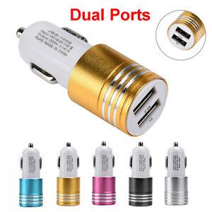 Mini-Dual-2-puertos-3-1a-Cargador-Adaptador-USB-de-Coche-Viaje-Para-Apple-iPhone