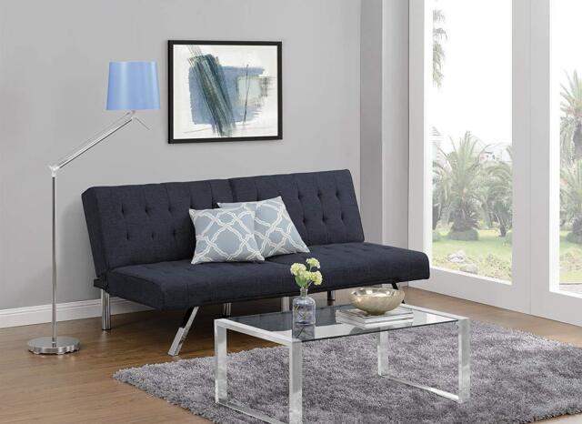 Futon Convertible Couch Sofa Bed Modern Hide A Furniture Bat Dorm Room