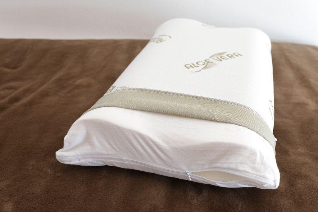 Neck Support Cushion Aloe Vera Cover Washable to 30 ° C Pillowcase 50//60 x 35 cm