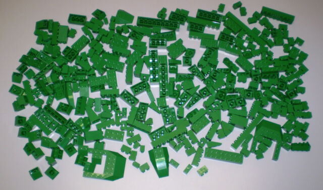 1 Pound LB of Used LEGO Green Brick Slope Plate Wedge