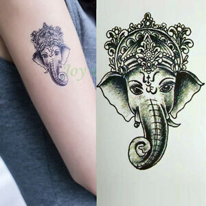 Waterproof-Temporary-Tattoo-Sticker-Ganesha-Elephant-Water-Fake-Tatto-A