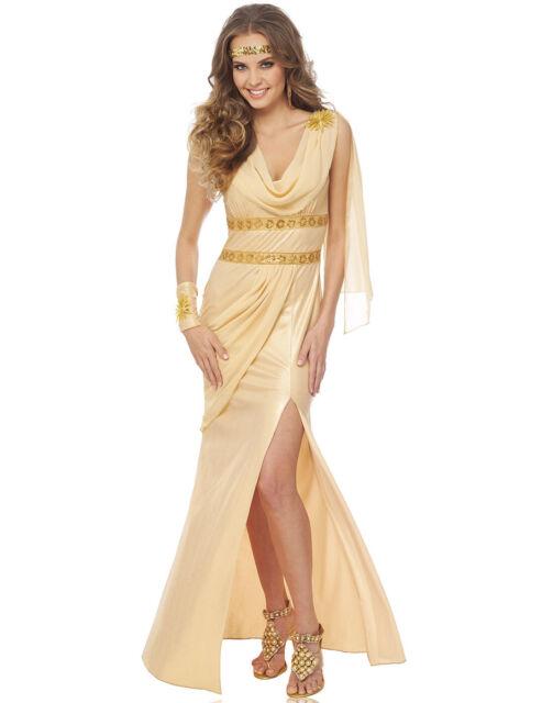5983a172dc98a Sun Goddess Womens Roman Greek Gold Toga Adult Halloween Costume