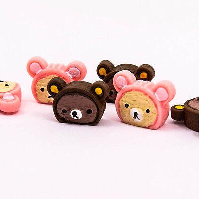 Cute Teddy Bear Face Resin Flatback Scrapbooking DIY Craft Cabochon Supply R0016