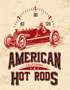 AMERICAN-HOT-RODS-LARGE-METAL-TIN-SIGN-POSTER-VINTAGE-STYLE-PLAQUE