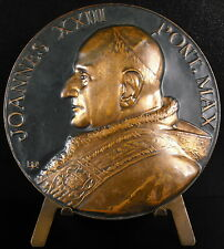 Médaille Pape Papa Pope Jean joannes  XXIII Angelo Giuseppe Roncalli Pont medal