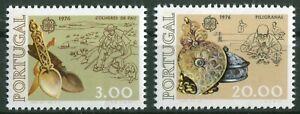 Portugal-CEPT-N-1311-1312-cachet-Europe-1976-MICHEL-70-00-Neuf-sans-charniere