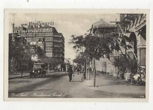 Port-Said-Boulevard-Fouad-I-Egypt-Vintage-RPPC-Postcard-US019