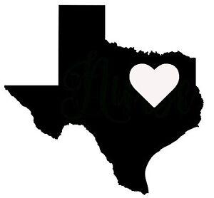 TEXAS HEART Vinyl Decal Sticker Car Window Wall LARGE TX Houston - Custom vinyl decals houston tx