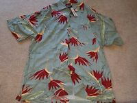 Mens Cherokee Size Large Brand With Tags Short Sleeve Shirt Button Down