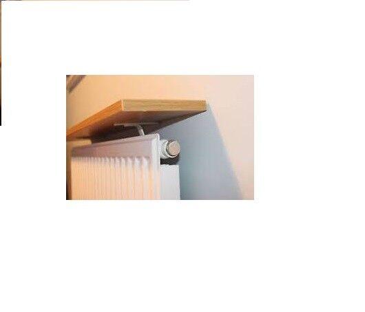 Radiator Shelf Kit 600 X 150 X 18mm Beech Effect Inc 2 White