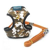 New Dog Harness Camo Pet Puppy Soft Mesh Adjustable Walk Collar Lead Leash Vest