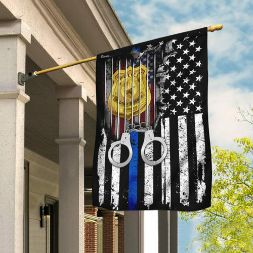The Thin Blue Line Flag THN2112F House Flag Garden Flag Police