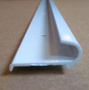 96 Quot Gloss White Aluminum J Gutter Drip Rail Trim Molding 1