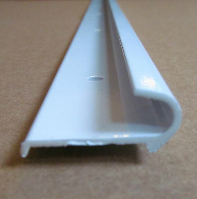 """Durable 3M Tape Included and RVs PVC Plastic Rain Gutter for Cars 1//2/"""" Height Easy to Install Flexible Drip Rail Molding to Control Water Runoff Vans White Trim-Lok Drip Rail 250/' Length"""