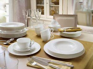 Villeroy-amp-Boch-Anmut-blanc-Service-de-table-18-pieces-pour-6-personnes-Neuf