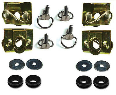 Custom Chrome Saddlebag Bail Mounting Kit & Pins Harley Touring FLHT/FLT 93-13