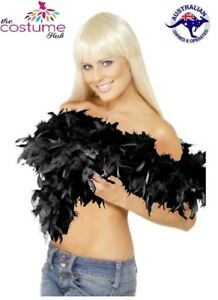 Soft-BLACK-Fluffy-Feather-Boa-Party-dressup-Flapper-Burlesque-Costume-Prom-2m-AU
