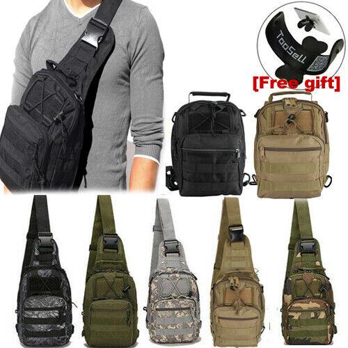 Men Backpack Molle Tactical Chest Bag Assault Pack Messenger Sling Sho... - s l1600
