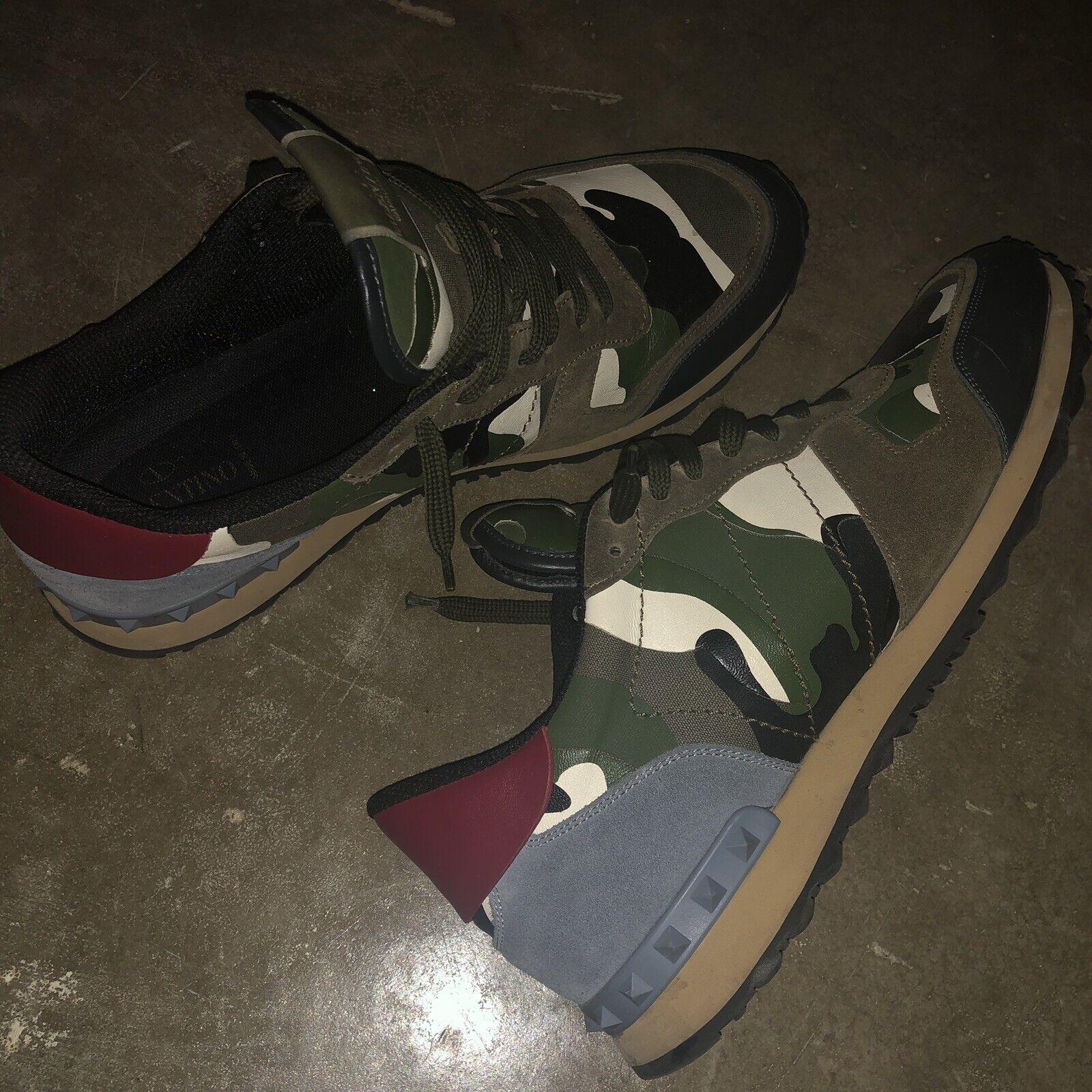 0d791c5aeb7c7 VALENTINO Camo Rock Runner Sneakers RARE Authentic 46 nrtygs924-new ...