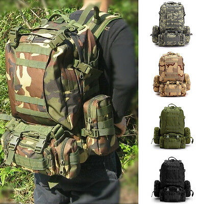Army Tactical Assault Combined Backpack Rucksacks Sport Molle Hiking Travel Bag