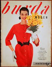 Burda Moden 2 / 1958 mit 2 Schnittbogen Modezeitschrift 50er Jahre