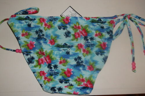 Bnwt La Senza 10 or 12 Tie Side Bikini Briefs in Tropical Palm Print