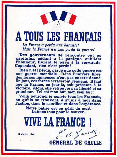 RÉPLIQUE PLAQUE APPEL 18 JUIN De Gaulle 20x30 ALU NEUF