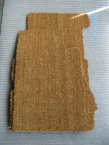dickes Material $$$ Kokos natur Fußmatten für Mercedes Benz W113 SL Pagode NEU