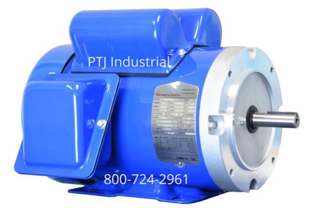 1 hp electric motor 56c 1 phase tefc 115/230 volt 3600 rpm tefc f56c1s2c