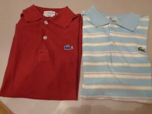 8b6eb632a91 2 Vintage IZOD Lacoste polo Rugby boys shirts size Large / 16 ...