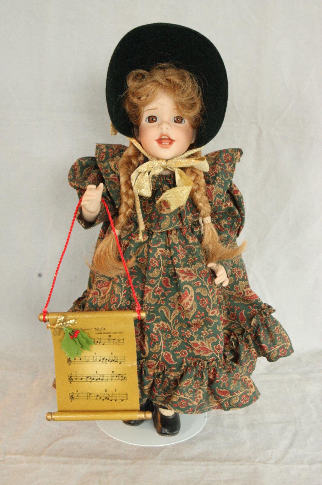 Wendy Lawton Navideño Carole le 158 500 MIB Porcelana Muñeca De Navidad Original