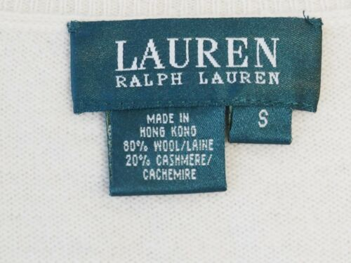 Ivory Kvinders Lrl Blend Cashmere V trøje Uld Merino S Sweater Ralph Lauren 0qXP66