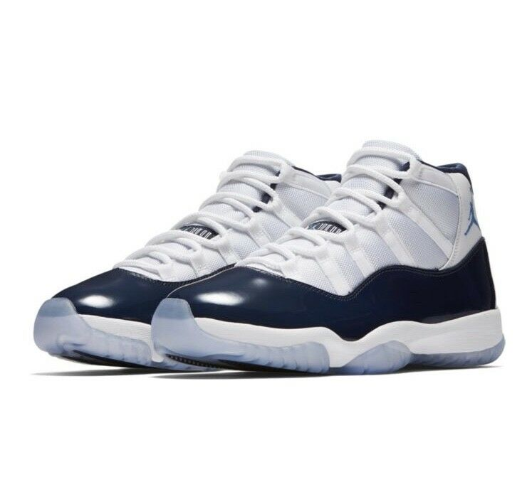Air Jordan XI 'Win Like 82' Retro White/Midnight Navy-University Blue 378037-123