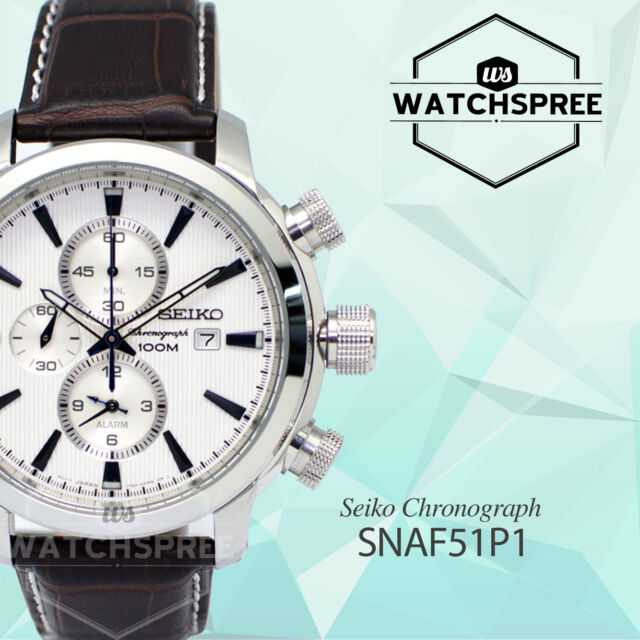 Seiko Chronograph Watch SNAF51P1