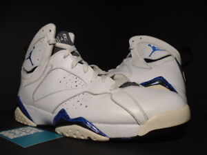 wholesale dealer 1c873 0f90e Details about 2009 NIKE AIR JORDAN VII 7 RETRO DMP ORLANDO MAGIC WHITE  ROYAL BLUE BLACK 10