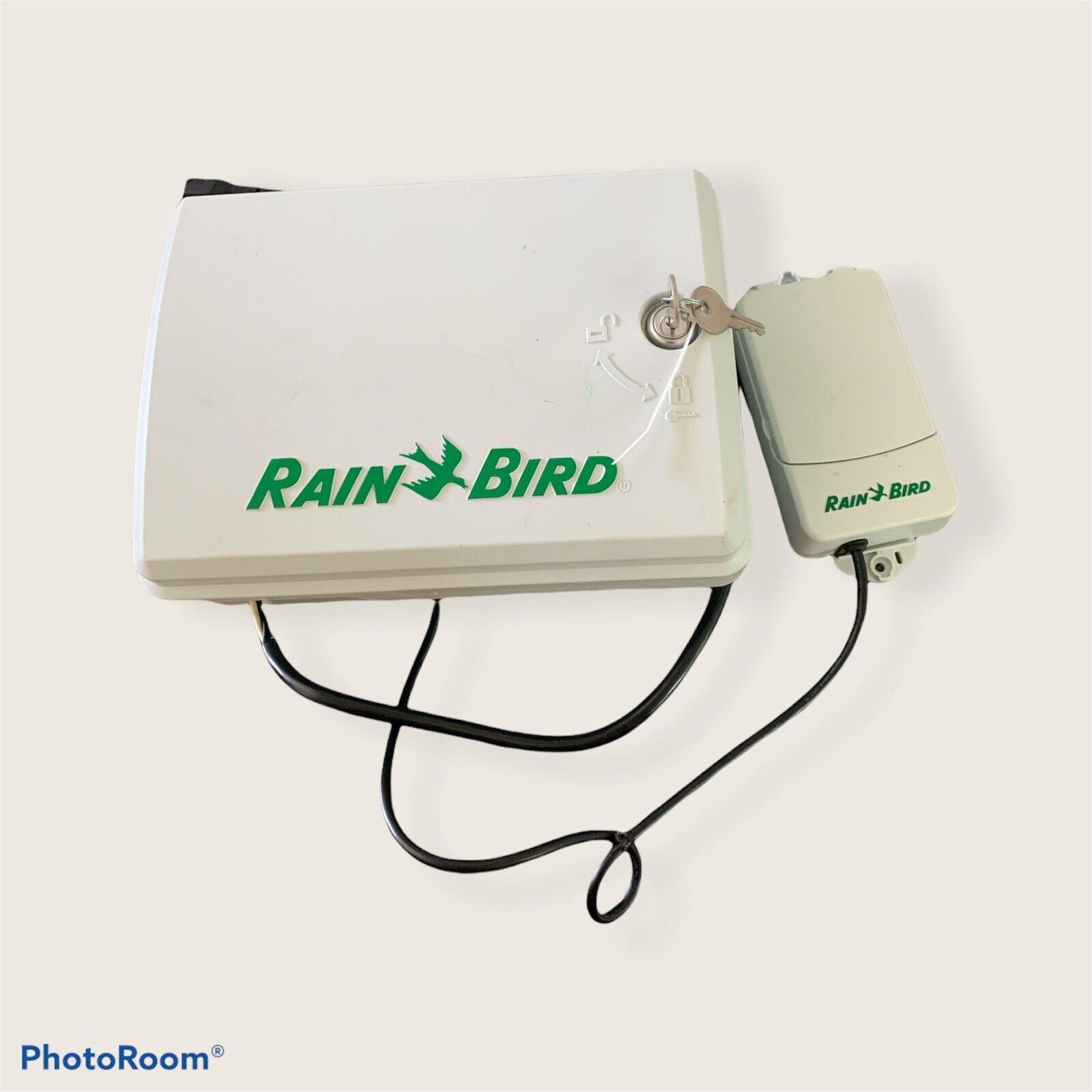 Rain Bird esp-me Zone Controller Box With Key And WR2 Wireless Sensor Lot