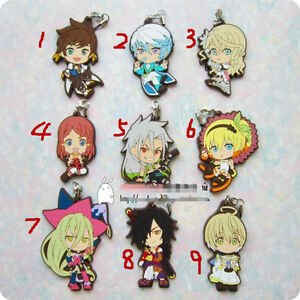 T196 Tales of Zestiria Tales Sorey Miku 2//set Game Rubber Strap Keychain